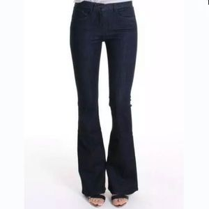 3x1 26 Bell Bottom Jeans Mid Rise Dark Cotton D1